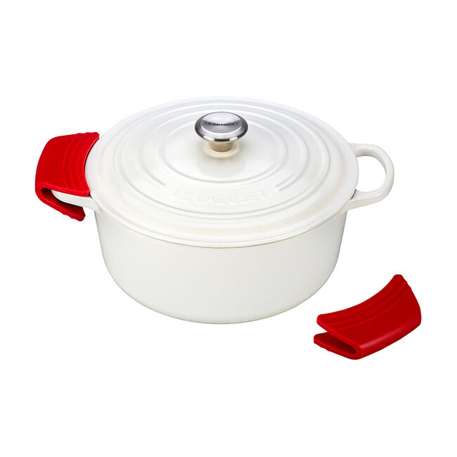 Le Creuset SG1007F Silicone Pot Grip Set of 2 Oyster